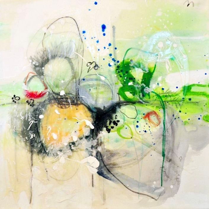 PAINTINGS - COLORS, LINES, CIRCLES, SPLASHES, LAYERS