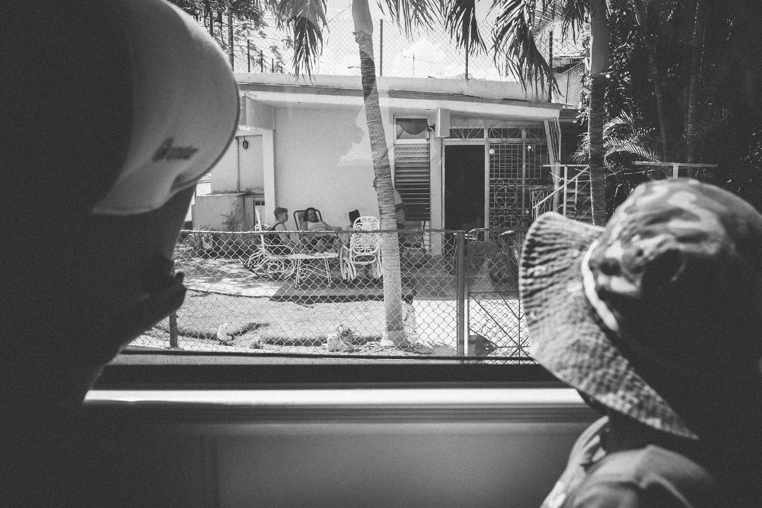 People watching from the tour bus in Varadero, Cuba 2015.