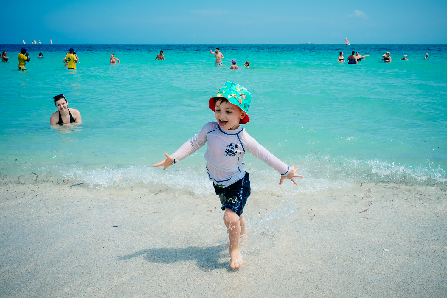 My son playing on the beach in Varadero, Cuba 2015.