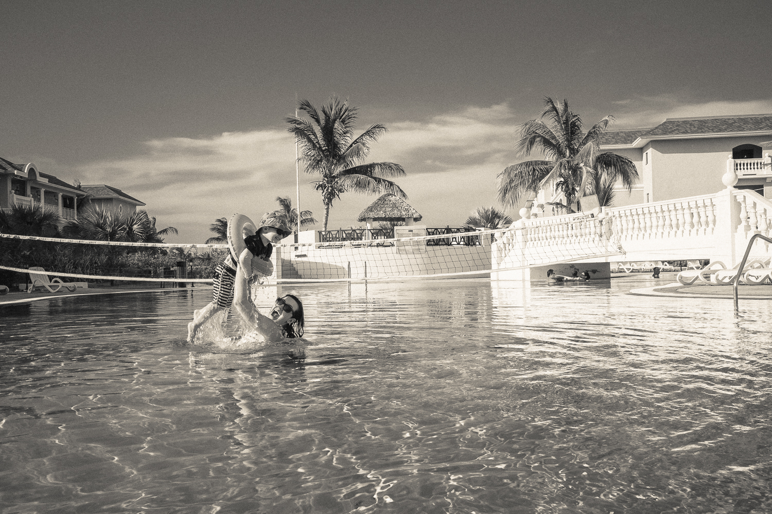 Mother and son swimming in Varadero, Cuba 2015.