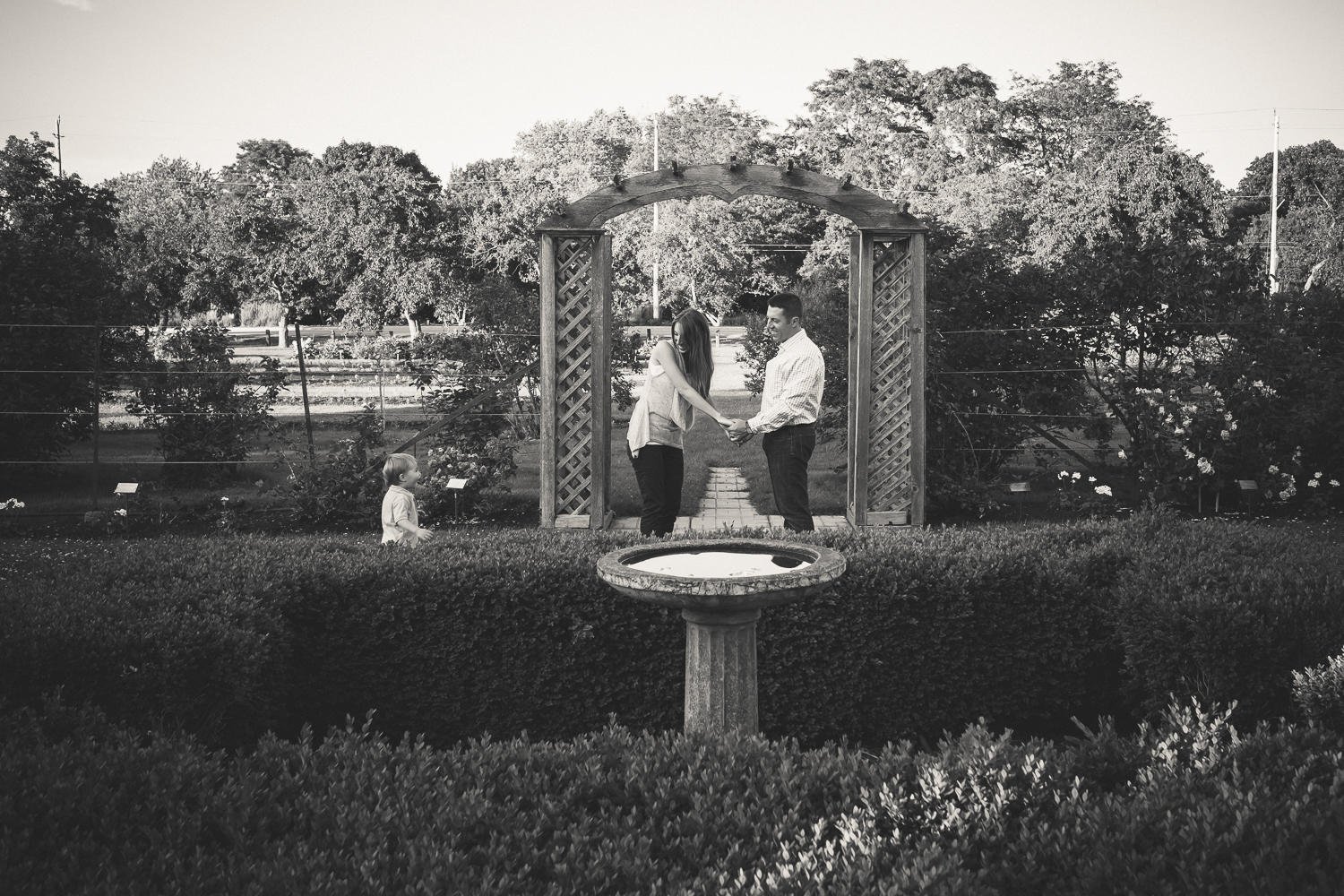 Engagement Session - Ornamental Gardens at the Central Experimental Farm in Ottawa.
