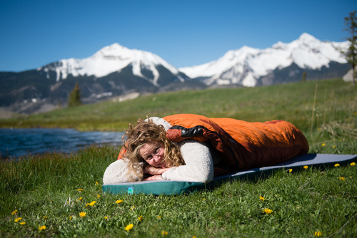 Napping is pure bliss with a luxury memory foam LaidBack Pad sleeping pad.
