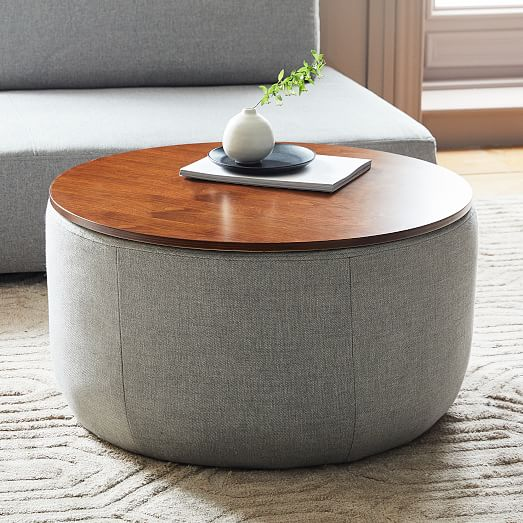 West Elm Upholstered Base Storage Ottoman