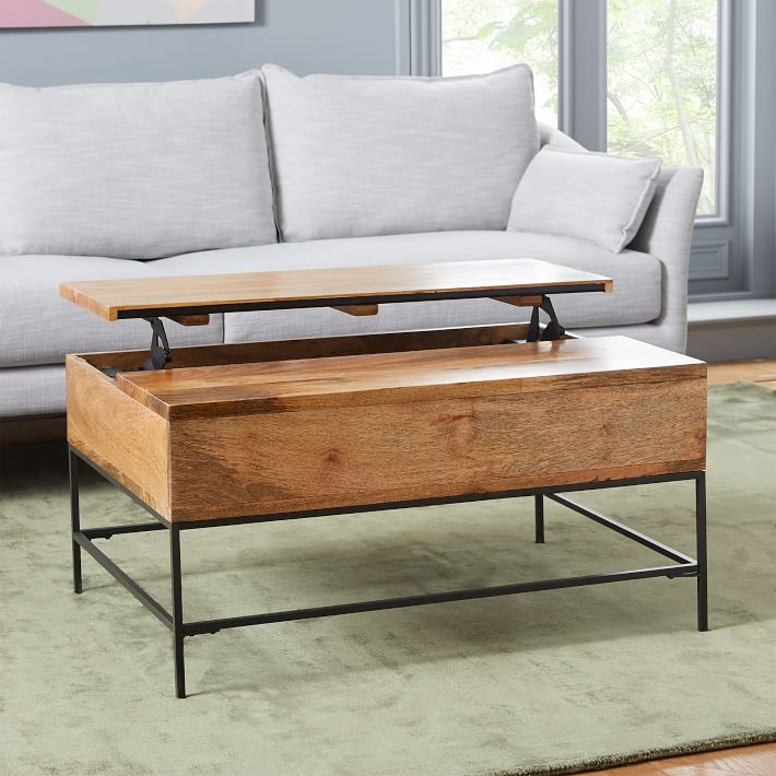 West Elm Industrial Storage Pop-Up Coffee Table