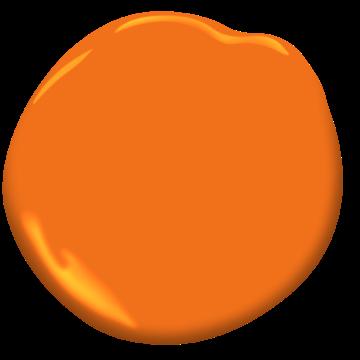 Benjamin Moore Orange Burst Paint