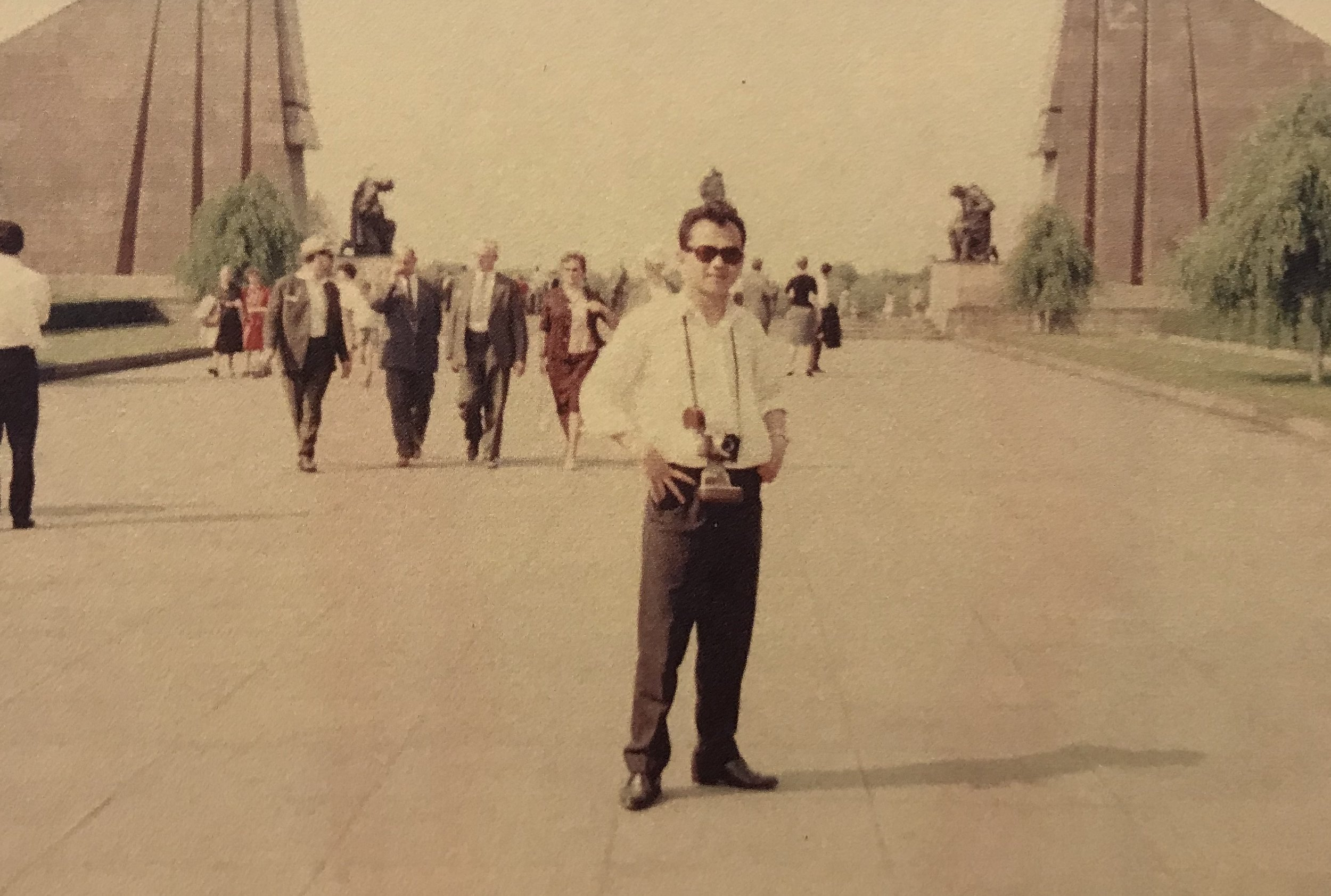 Dad with his camera in the 1960's