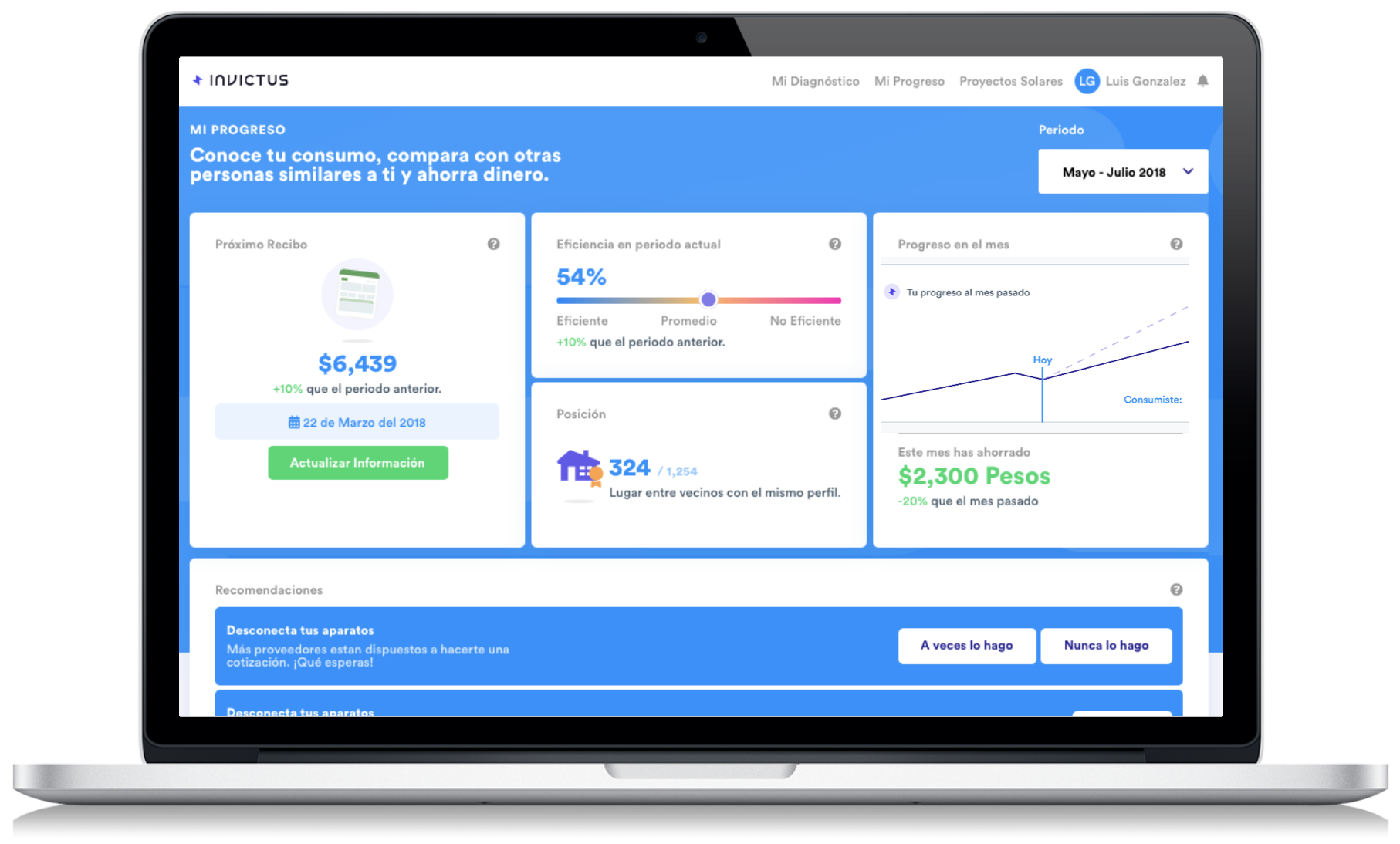 invictus.mx la plataforma para monitorear tu recibo de luz y tomar acciones para ahorrar