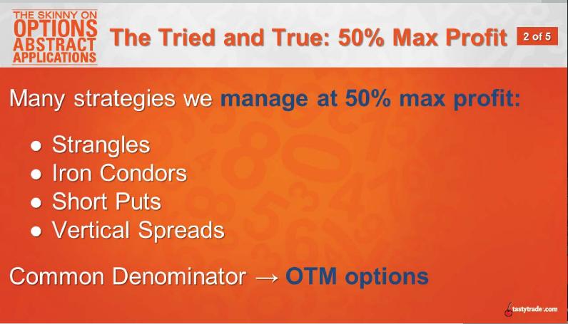 50% Max Profit 1