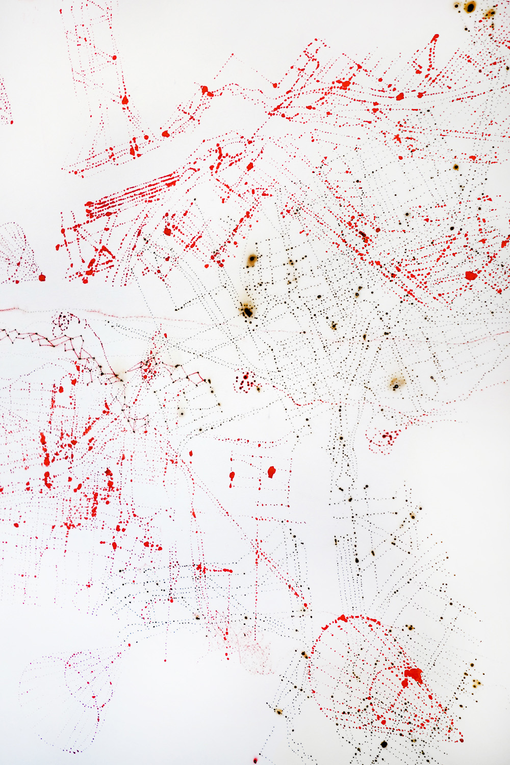 Vermilion Large Drawing, 2014, detail.