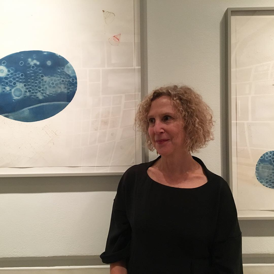 Ellen Ziegler at  Anna Atkins Refracted.  Works: Chemistry is the Emotion of Matter #3 and 5.