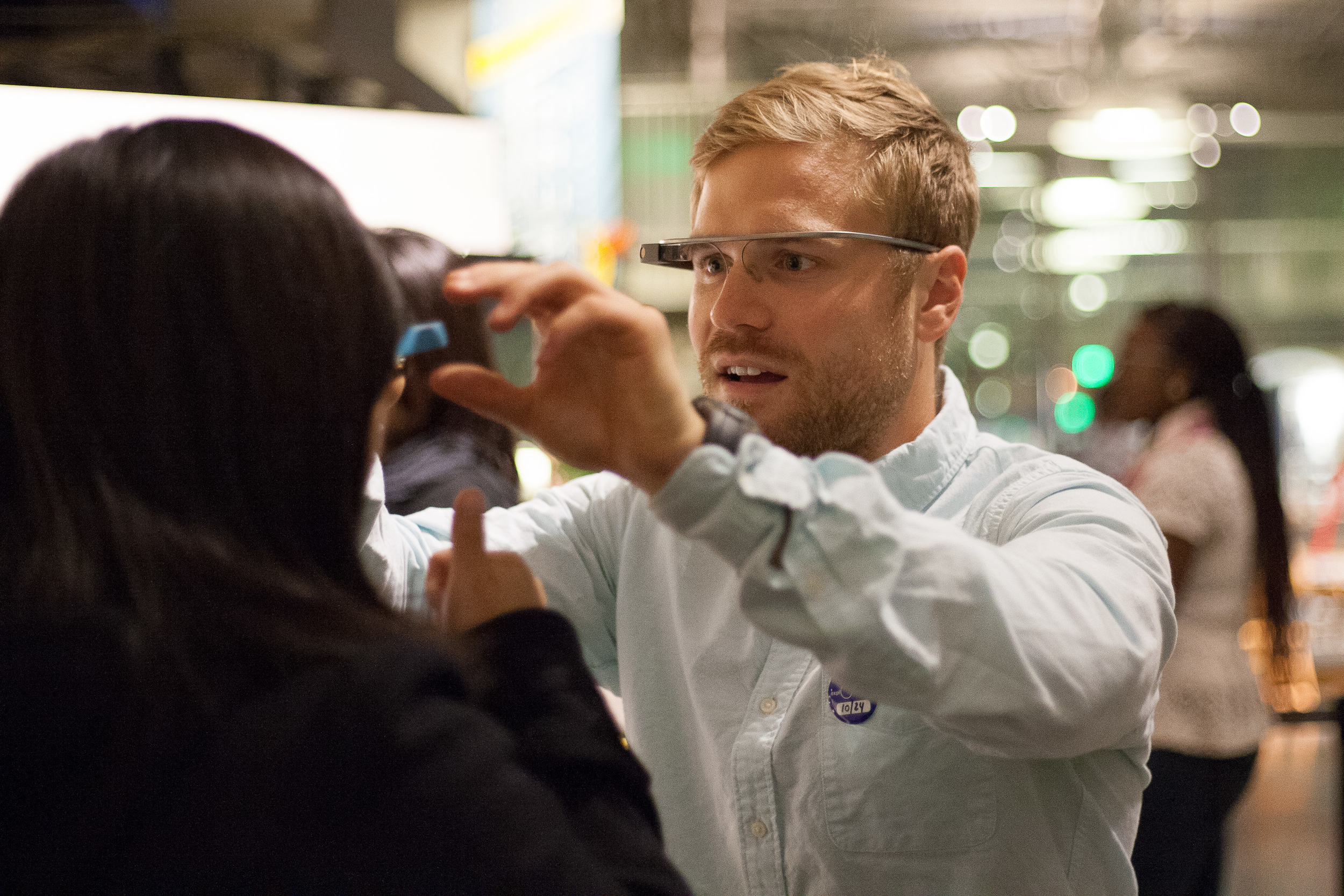 The Exploratorium hosted a number of Glass demo events as part of its After Dark programming.