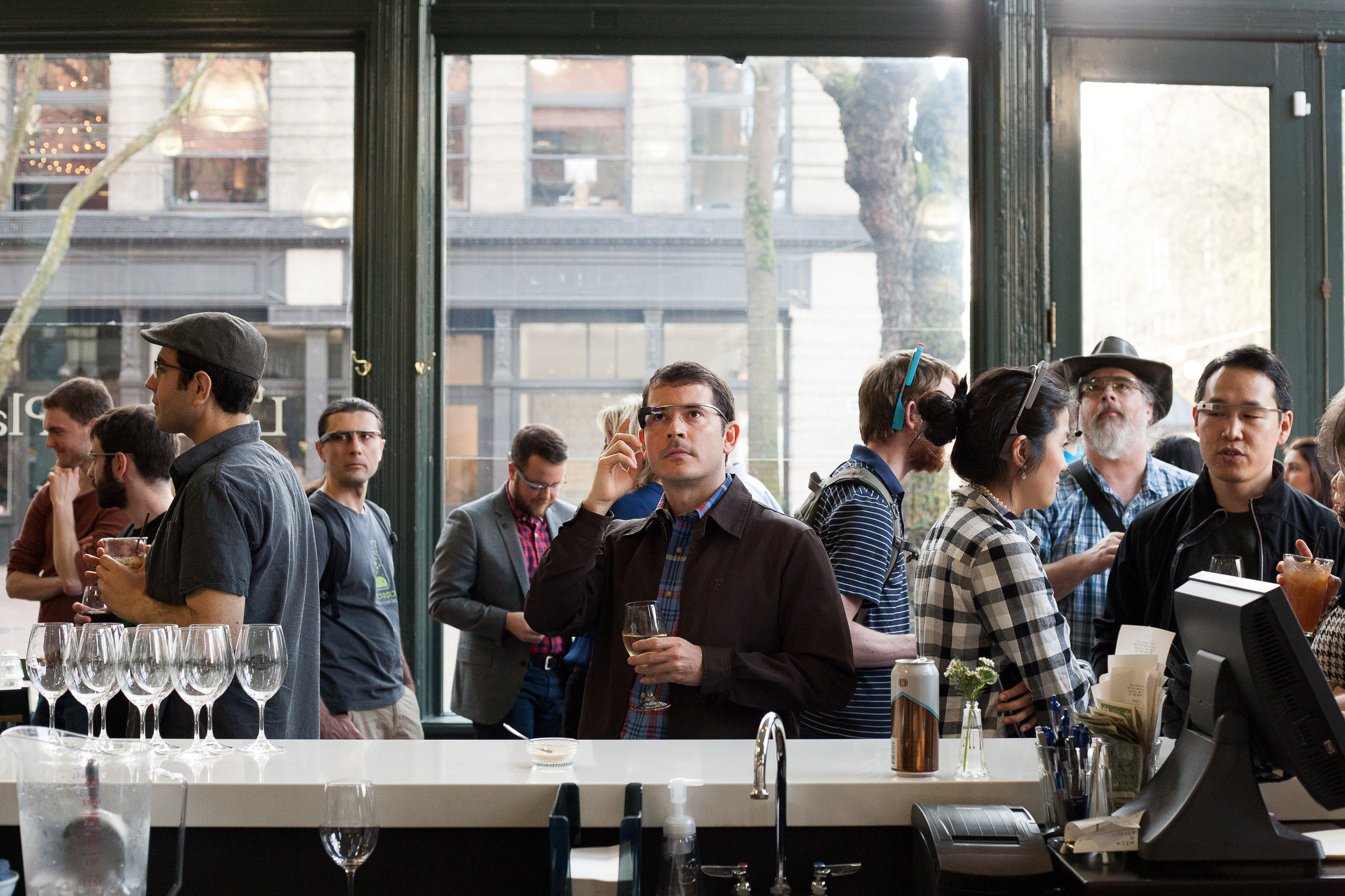 In April 2014, Glass demos and Explorer events were hosted at Seattle's Sodo Park and London Plane.