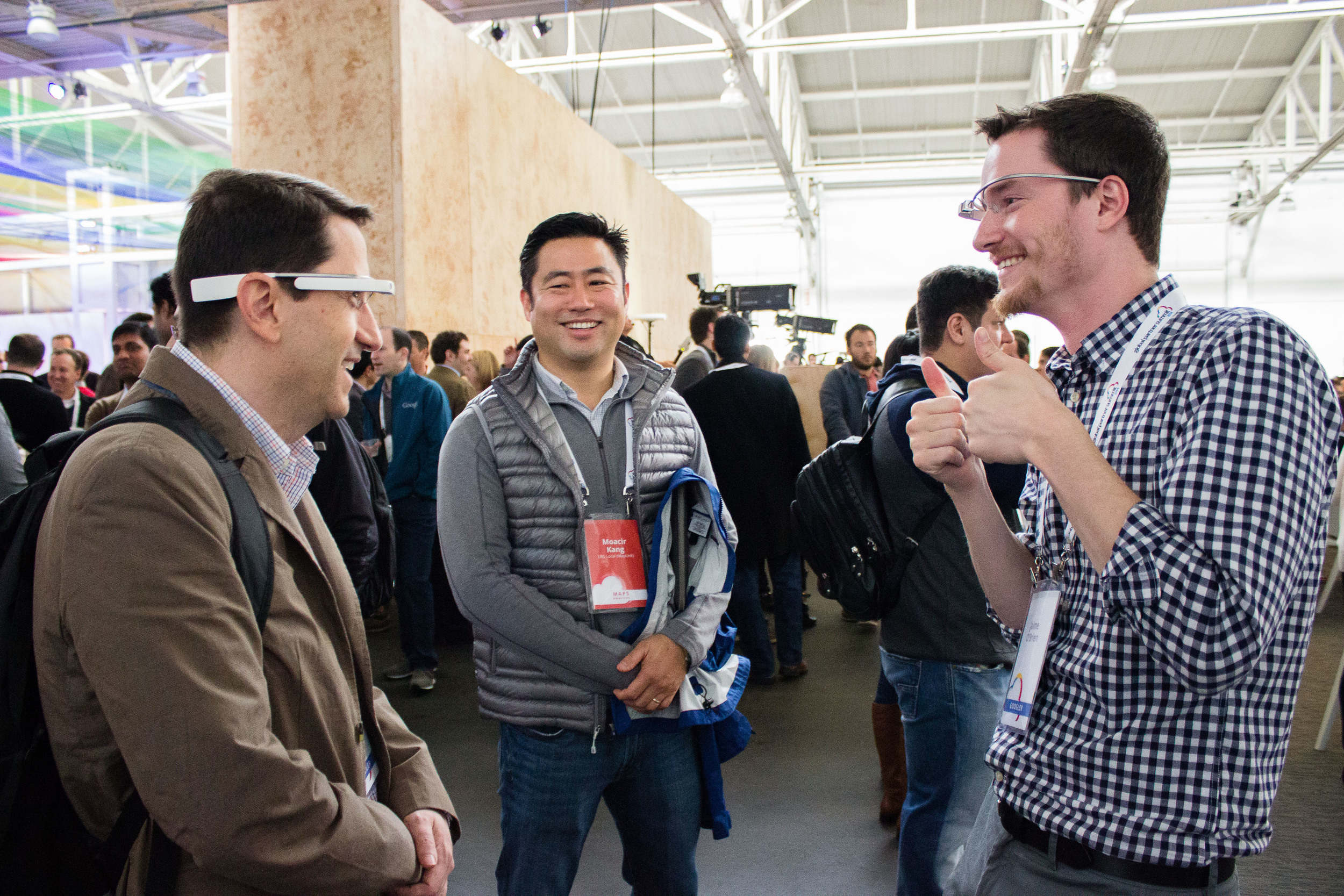 Glass was at the Global Partners Summit in March 2014 at Fort Mason - the demo booth drew a large crowd at session breaks.