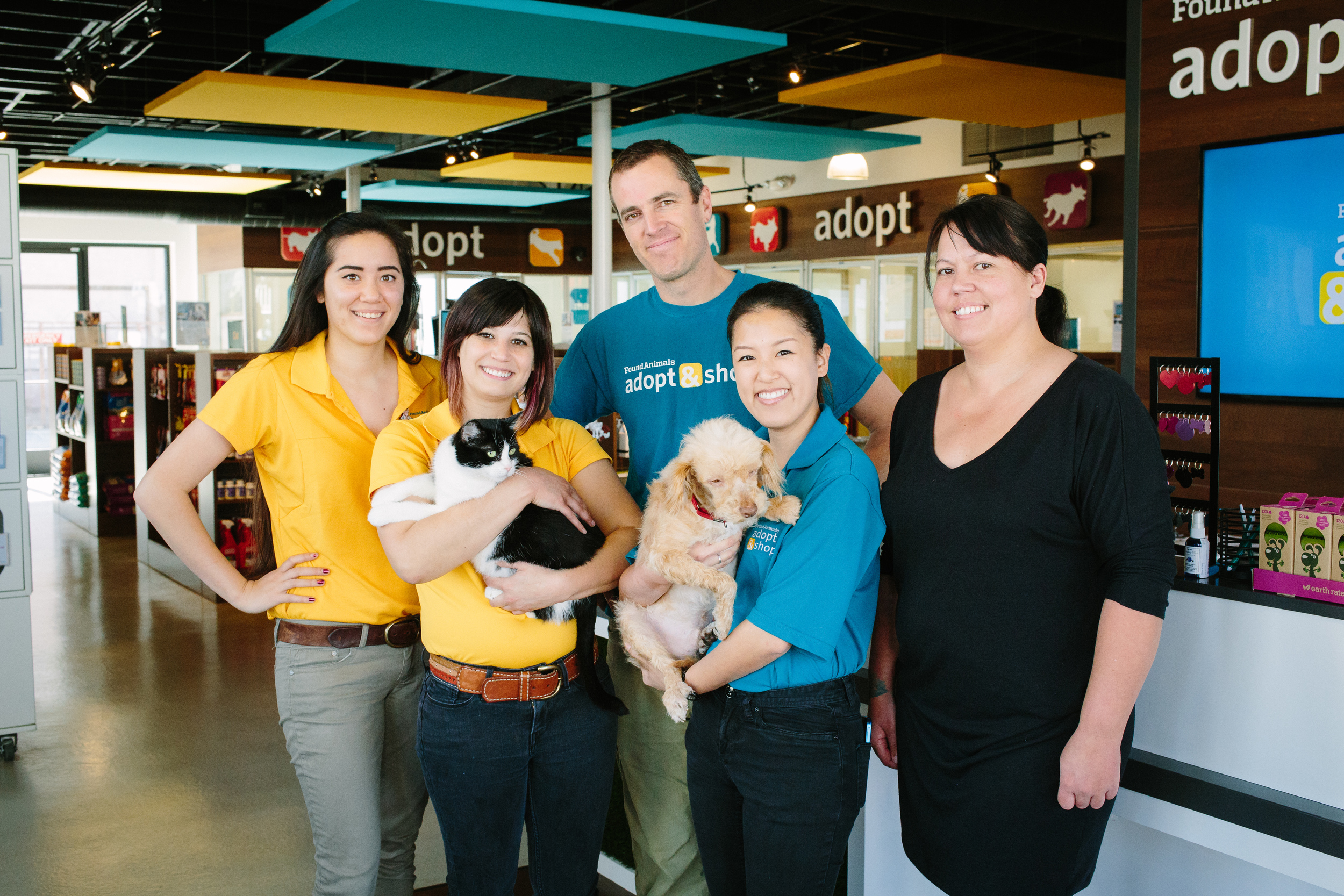 Google Corps volunteers work with Found Animals, an LA-based nonprofit, to help them with Apps training and marketing support, including assistance in building a new YouTube Channel to feature their Adopt & Shop retail locations.