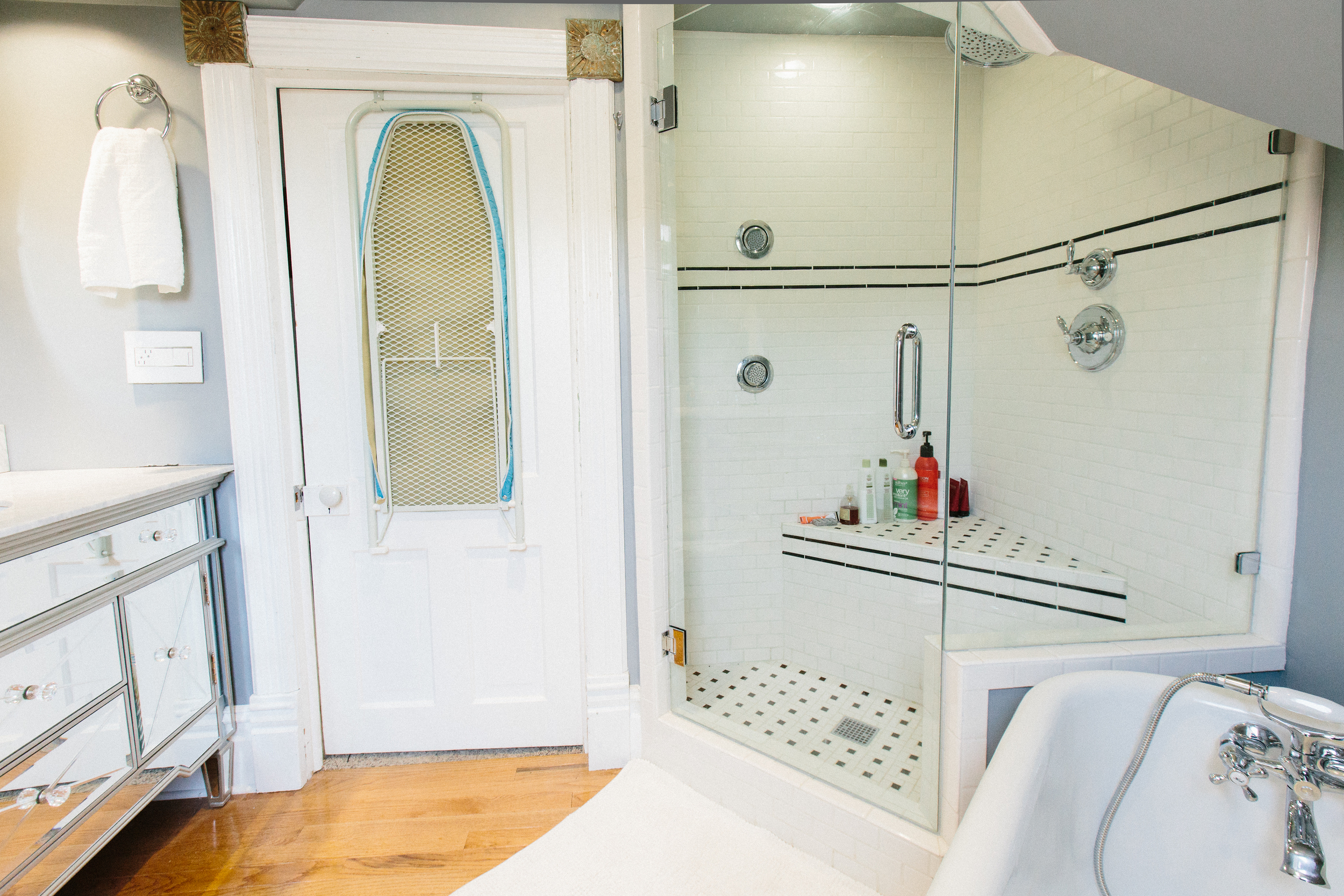 The bath upstairs has been fully remodeled, and includes both a deep clawfoot tub and walk-in shower.