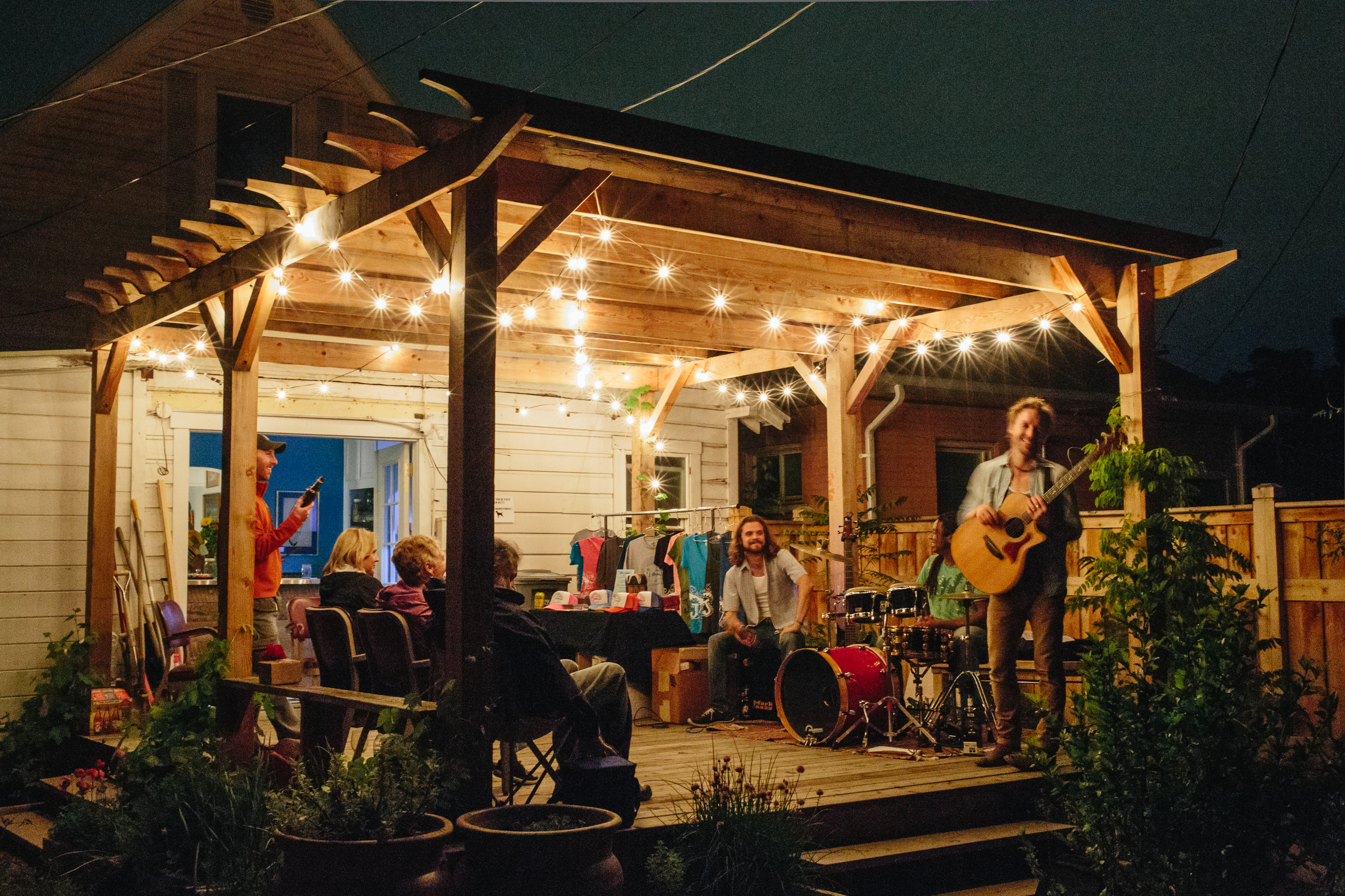 Music nights on the back deck are common.