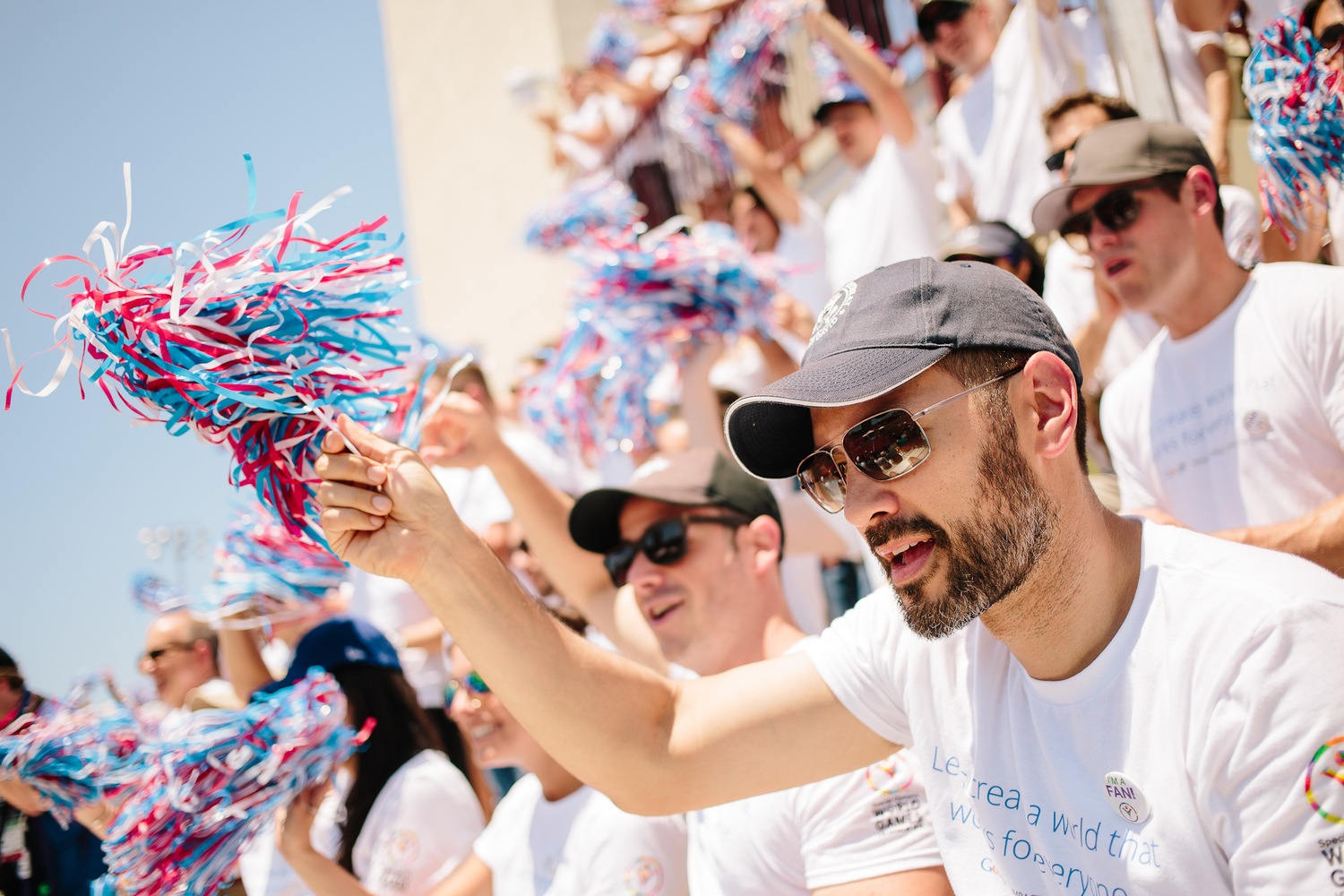 Google was a sponsor of the 2015 Special Olympics World Games in LA. At the Google.org tent, Games attendees explored assistive technology, including 3-D printed prosthetic hands and tremor-canceling silverware. Googlers also took to the stands en masse to cheer on track and field athletes.