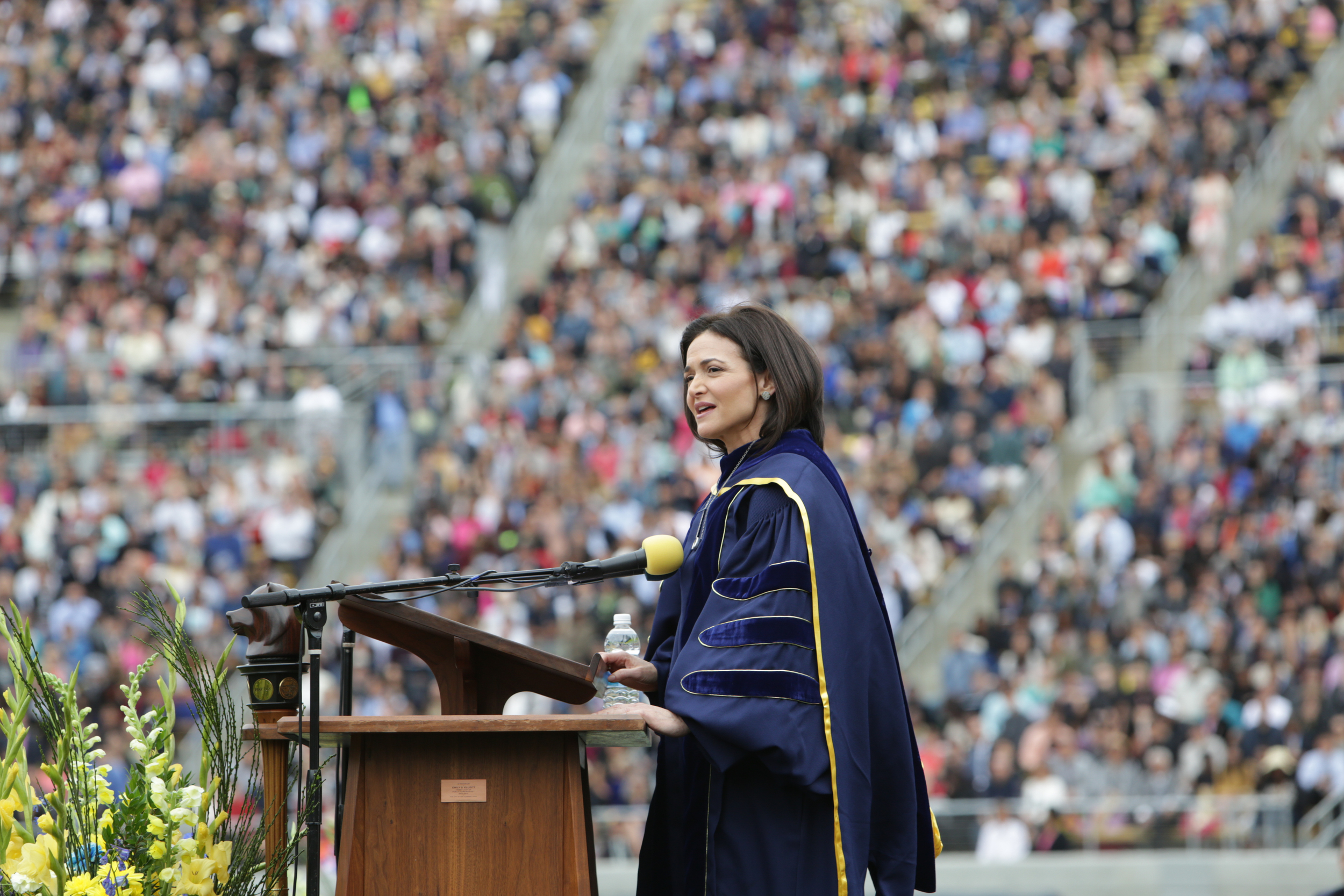 Sheryl Sandberg gave the commencement speech at the University of California Berkeley in May 2016.