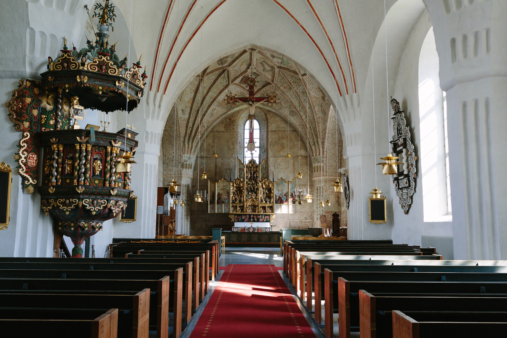 The church at Gammelstad, with elements of pre- and post-Reformation design.