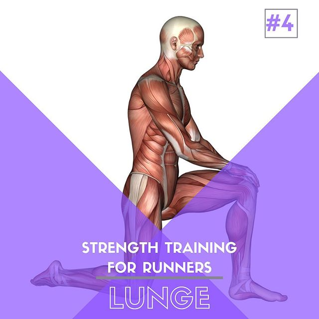 Strength Training For Runners - Exercise 4️⃣ - Lunge⁣ ⁣ The lunge is a simple move that packs a ton of benefit.  With that, the variety it provides can help improve coordination, balance, along with strength.⁣ ⁣ While the bump in strength helps with endurance and efficiency, where the lunge provides the most benefit is that it mimics the single leg focus that running requires. #runningstrength #sportschiropractic #saltlakecity