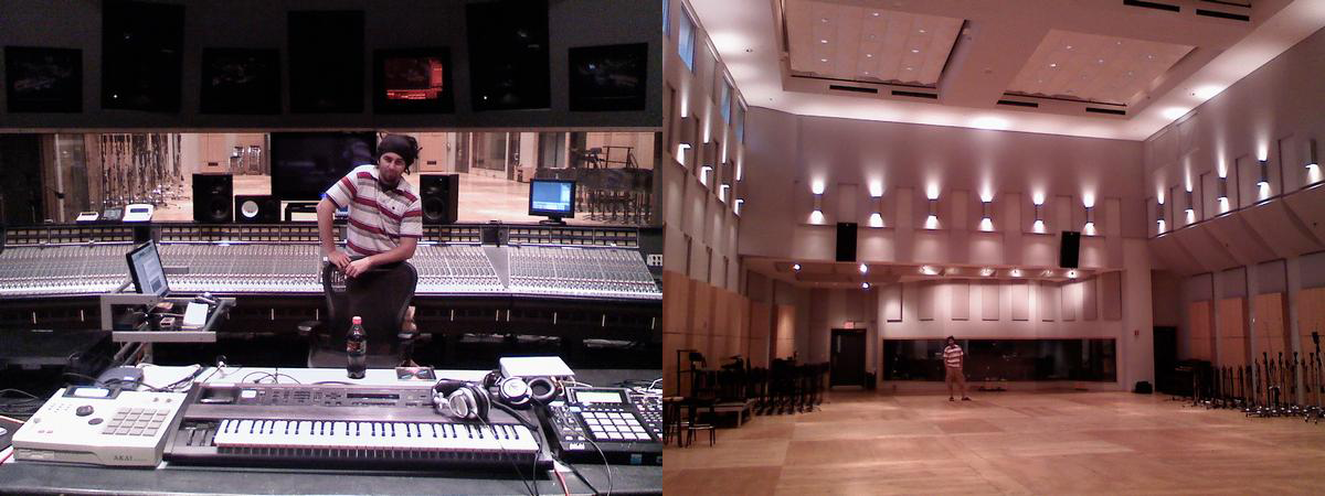 working at the legendary Legacy Recording Studio A509 (in NYC) before its closure.