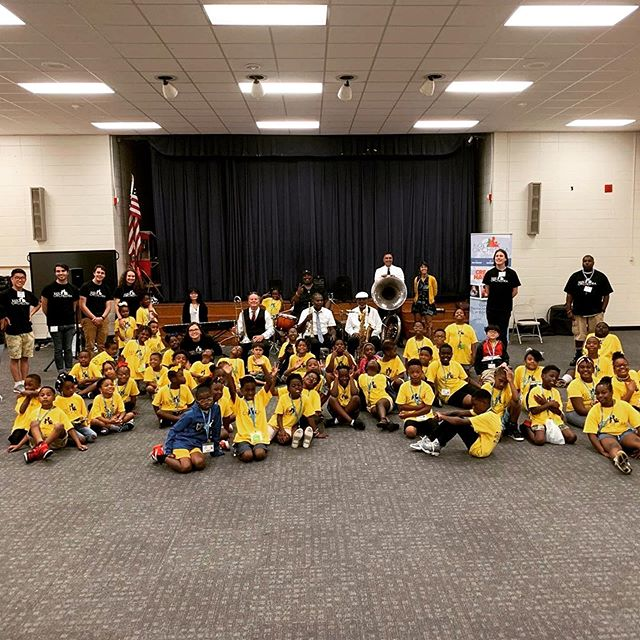 We had an amazing time visiting the @kidsorchestrala campers yesterday @ryanelementaryschool and #claibourneelementary in Baton Rouge! Such a fun-filled day of singing and dancing! #futuremusicians #workshops #morethanjustmusic