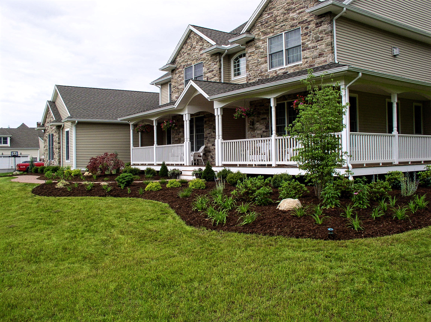 Landscaping Ideas Pictures Ct Landscaping Organic Lawn Care