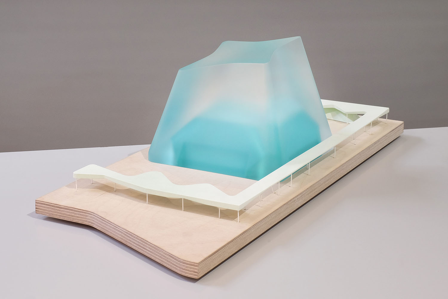 Resin architectural model