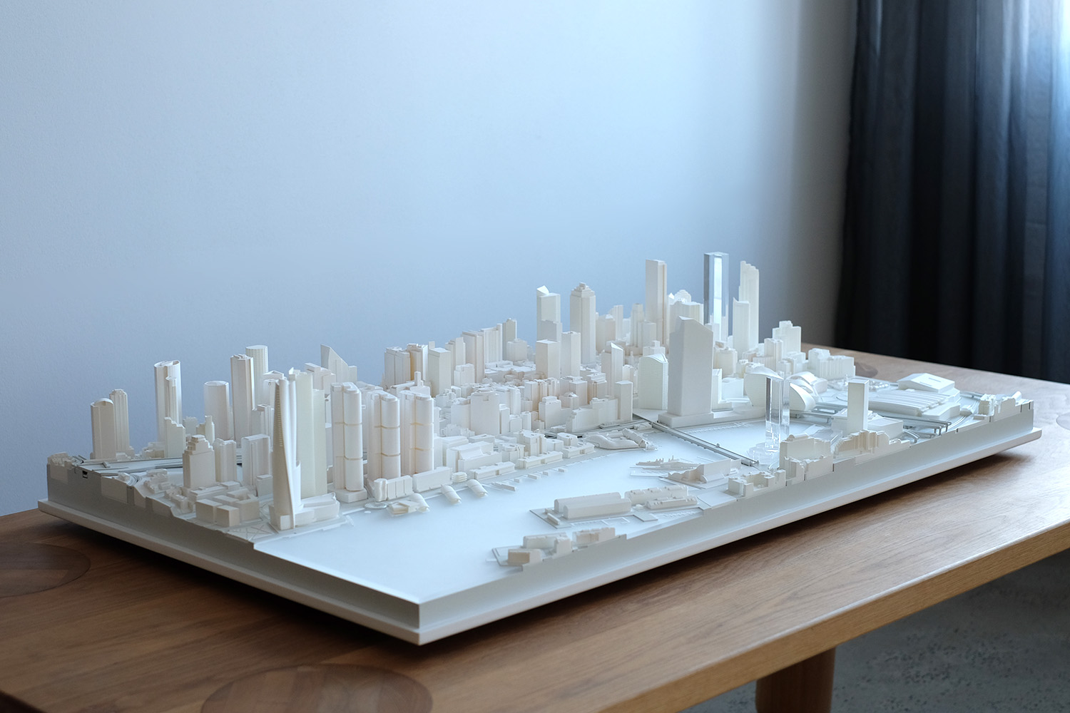 1:1500 white context model of Sydney CBD