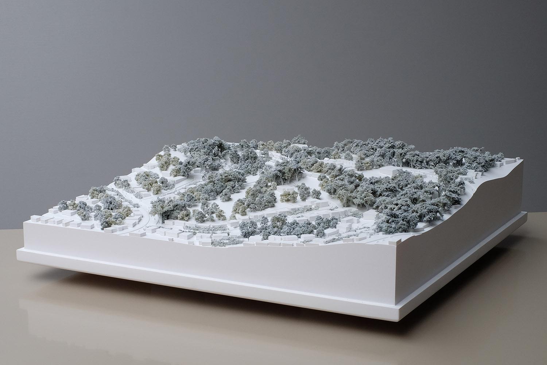 1:1500 landscape presentation model