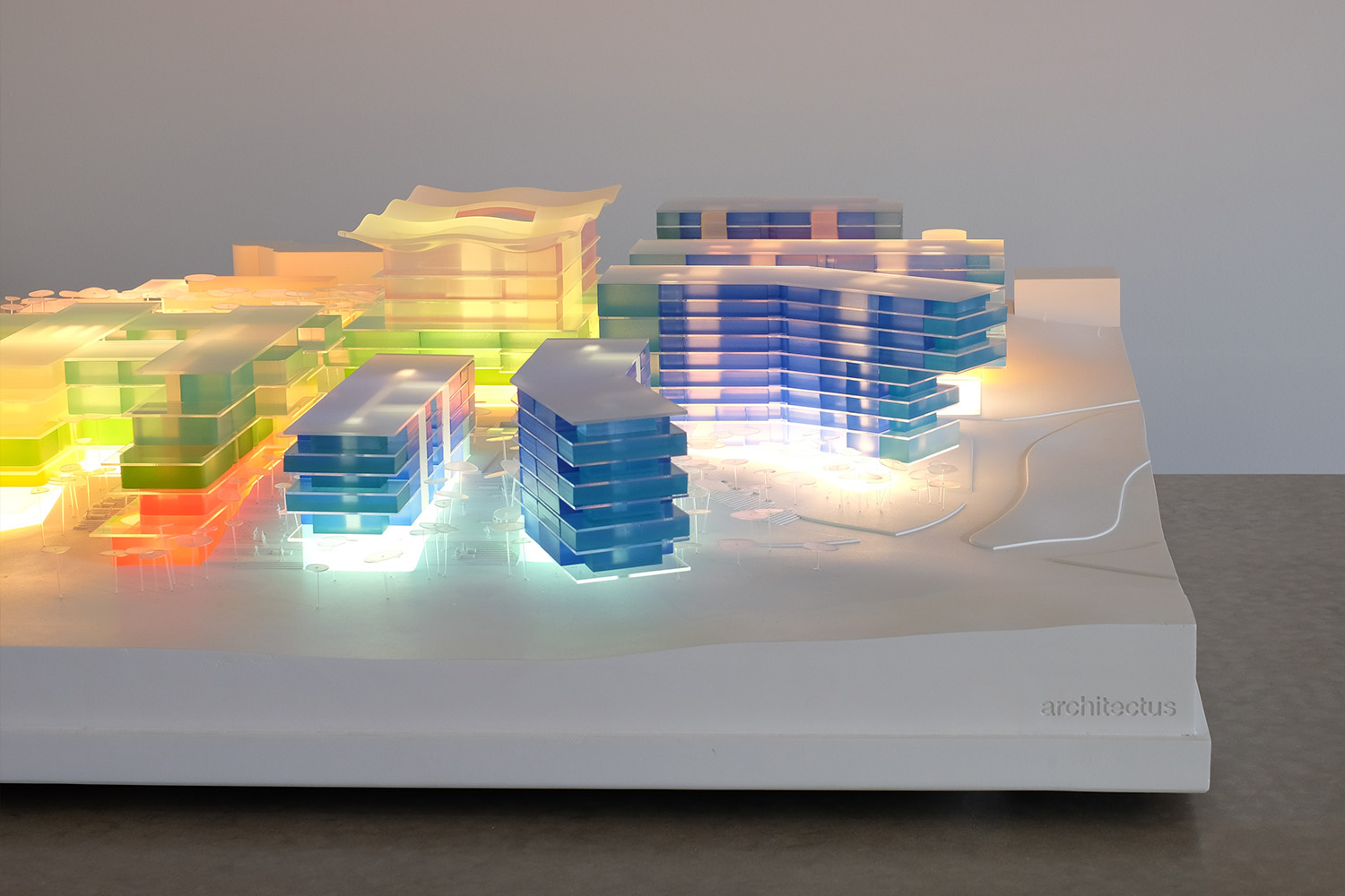 Interactive Architectural model with lighting