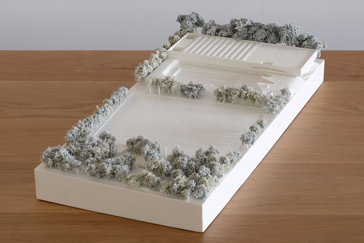 City of Sydney Development Application model with landscaping and trees