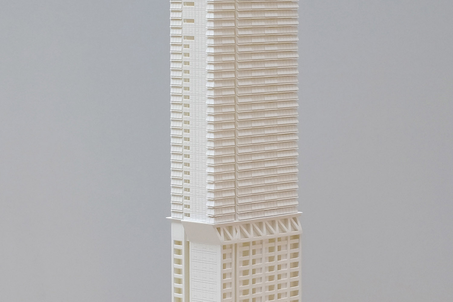 City of Sydney DA model for Greenland Centre (fenestration detail)