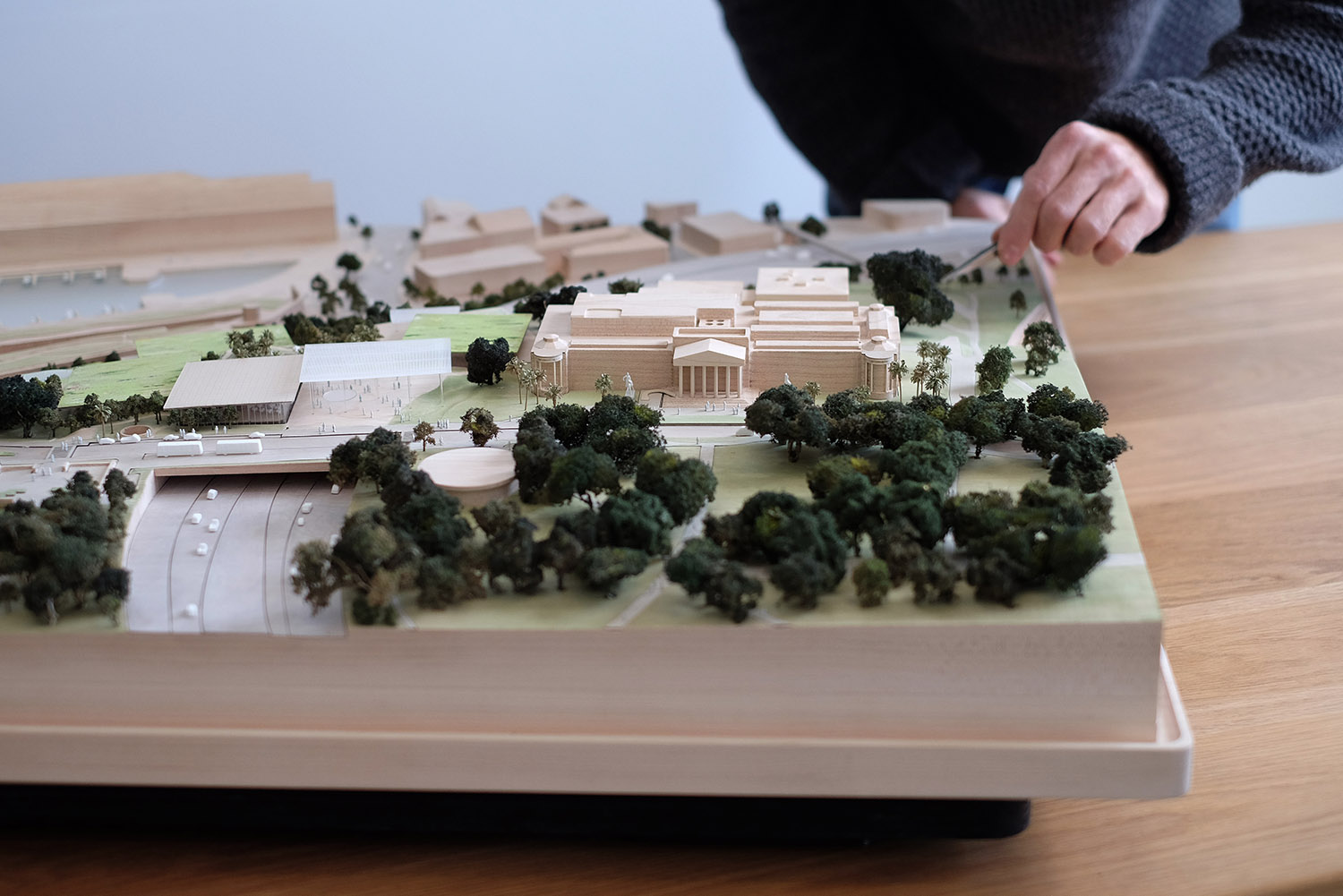 Timber model for the Sydney Modern Project