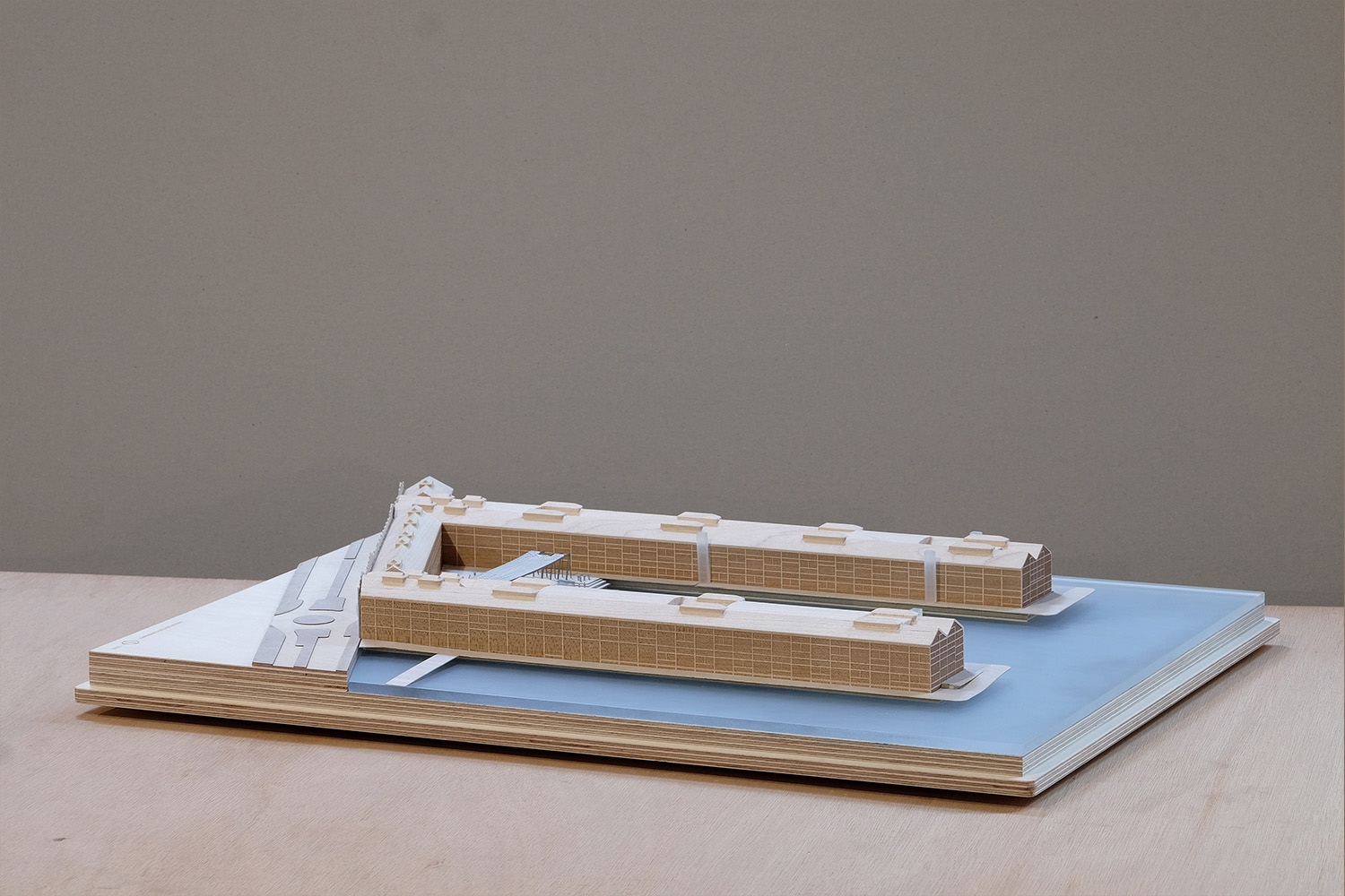 Solid timber and Plywood architectural model