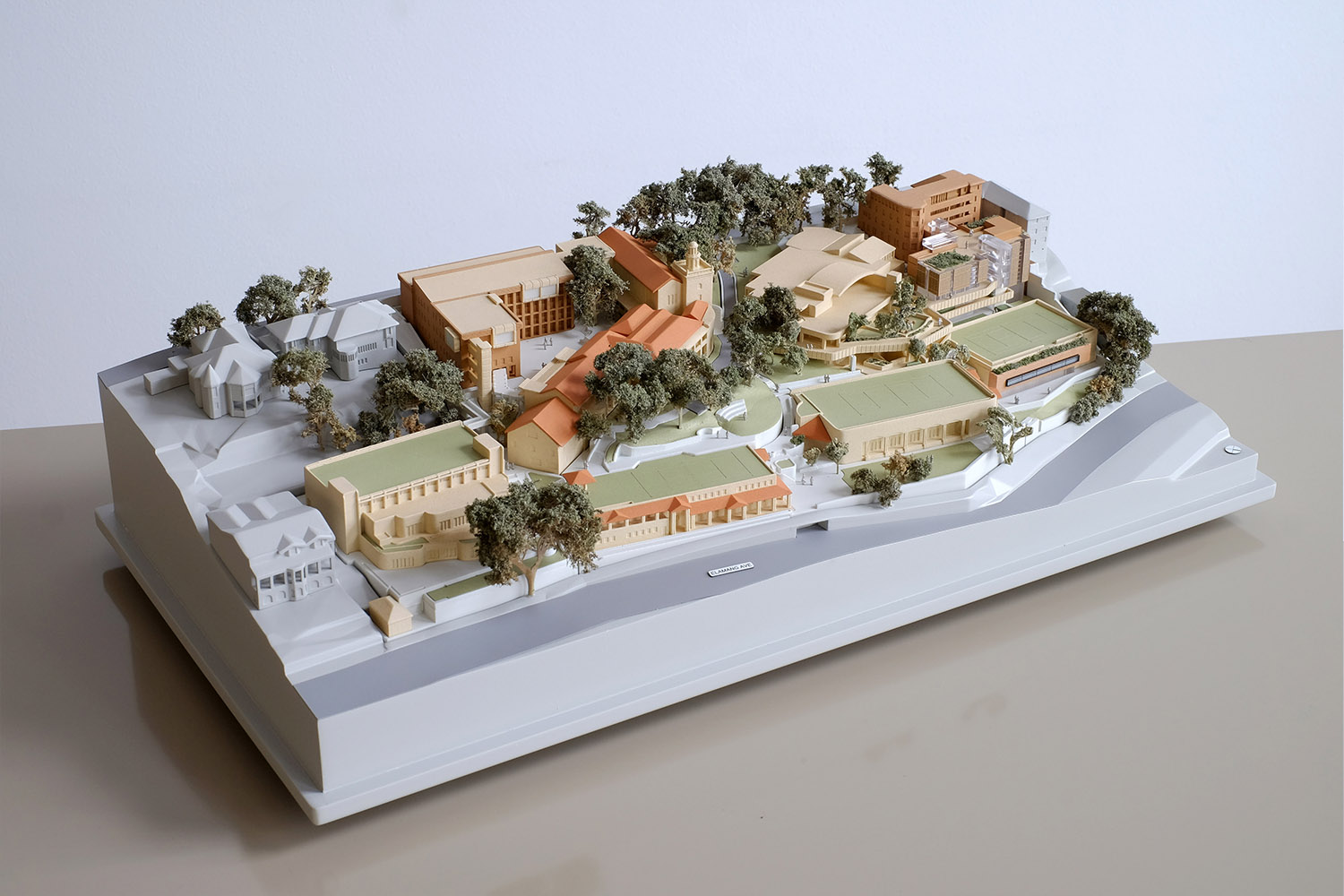 1:500 Coloured Presentation model for Loretta School Masterplan