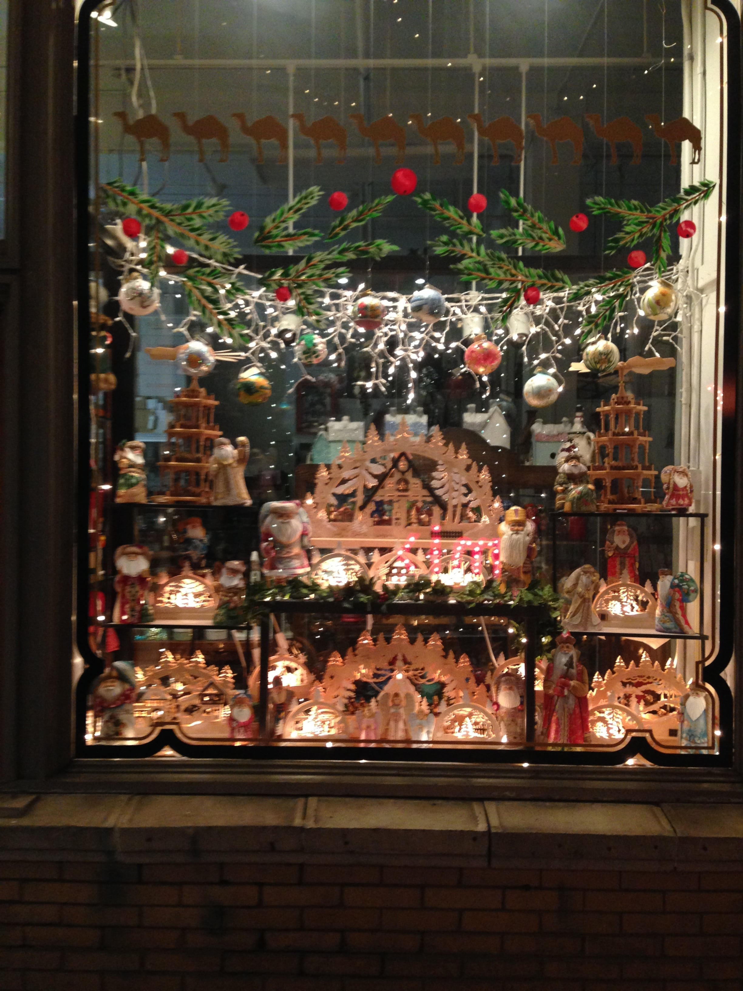 The Caravan Shop window display over the holidays.