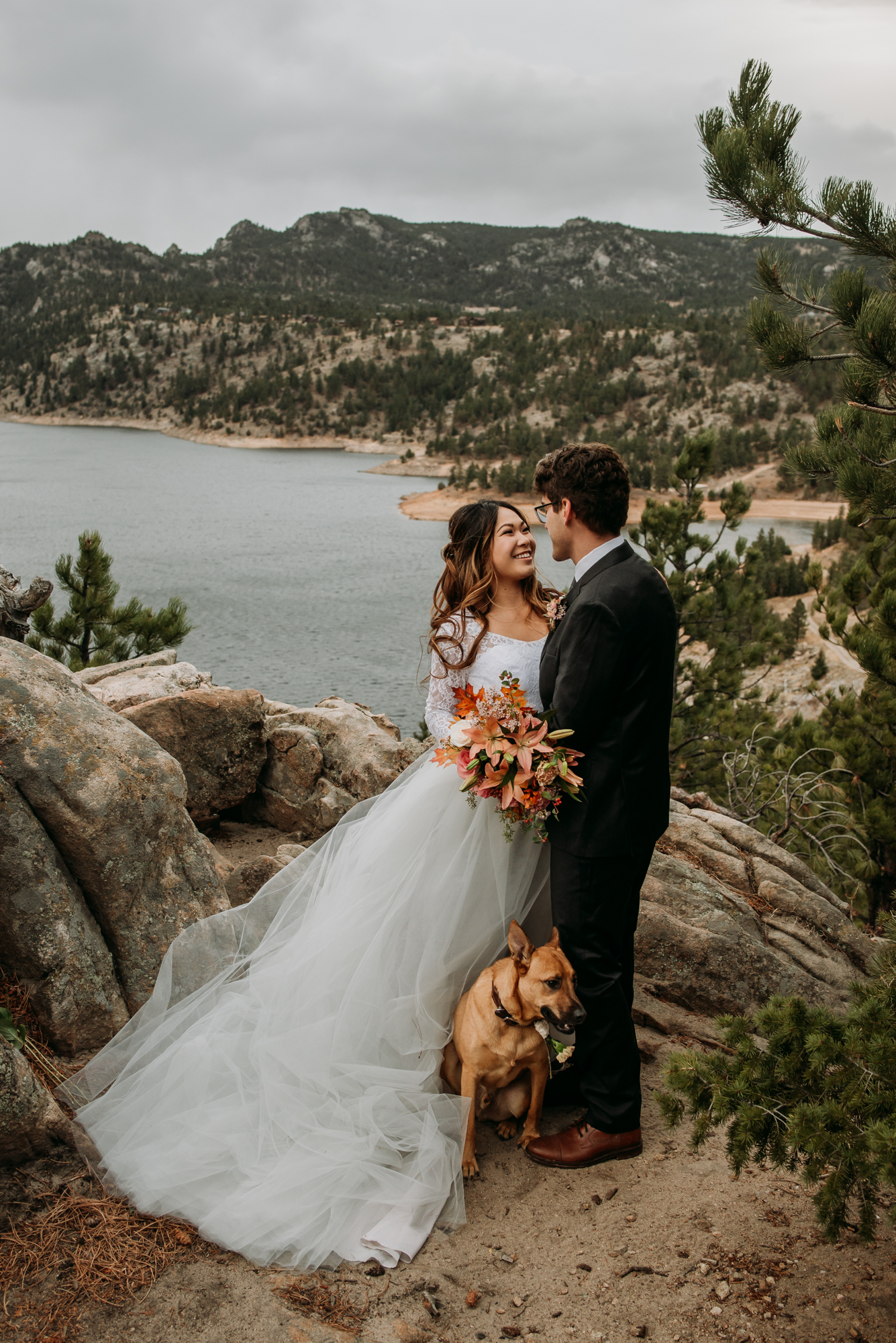 I knew this epic overlook in the Colorado Mountains would be the perfect spot for wedding photos.