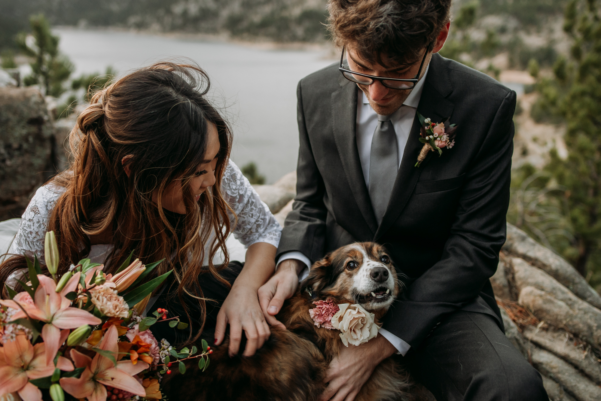 You should definitely bring your dogs to your wedding day!