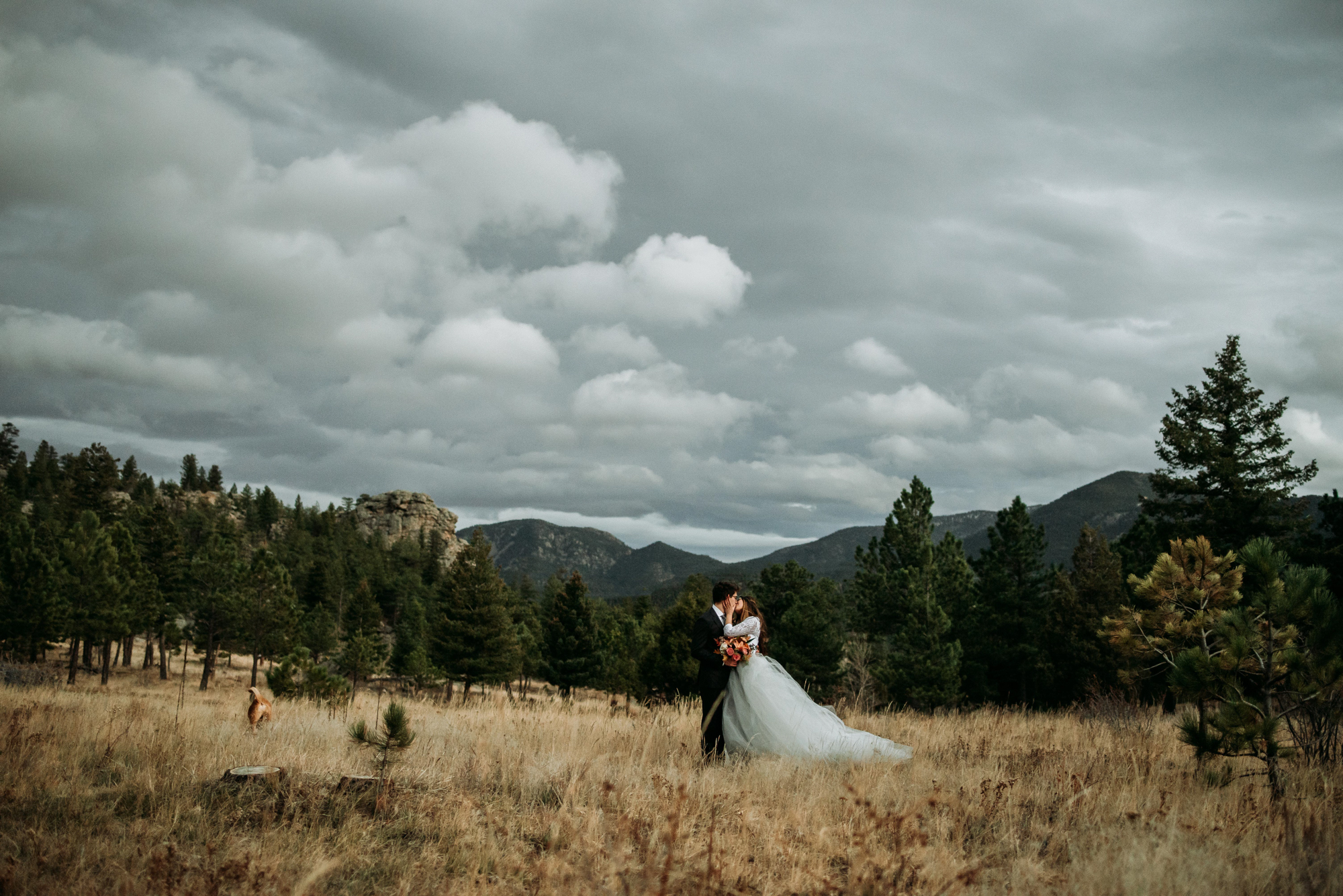 Check out this romantic boho elopement in the Rocky Mountains.