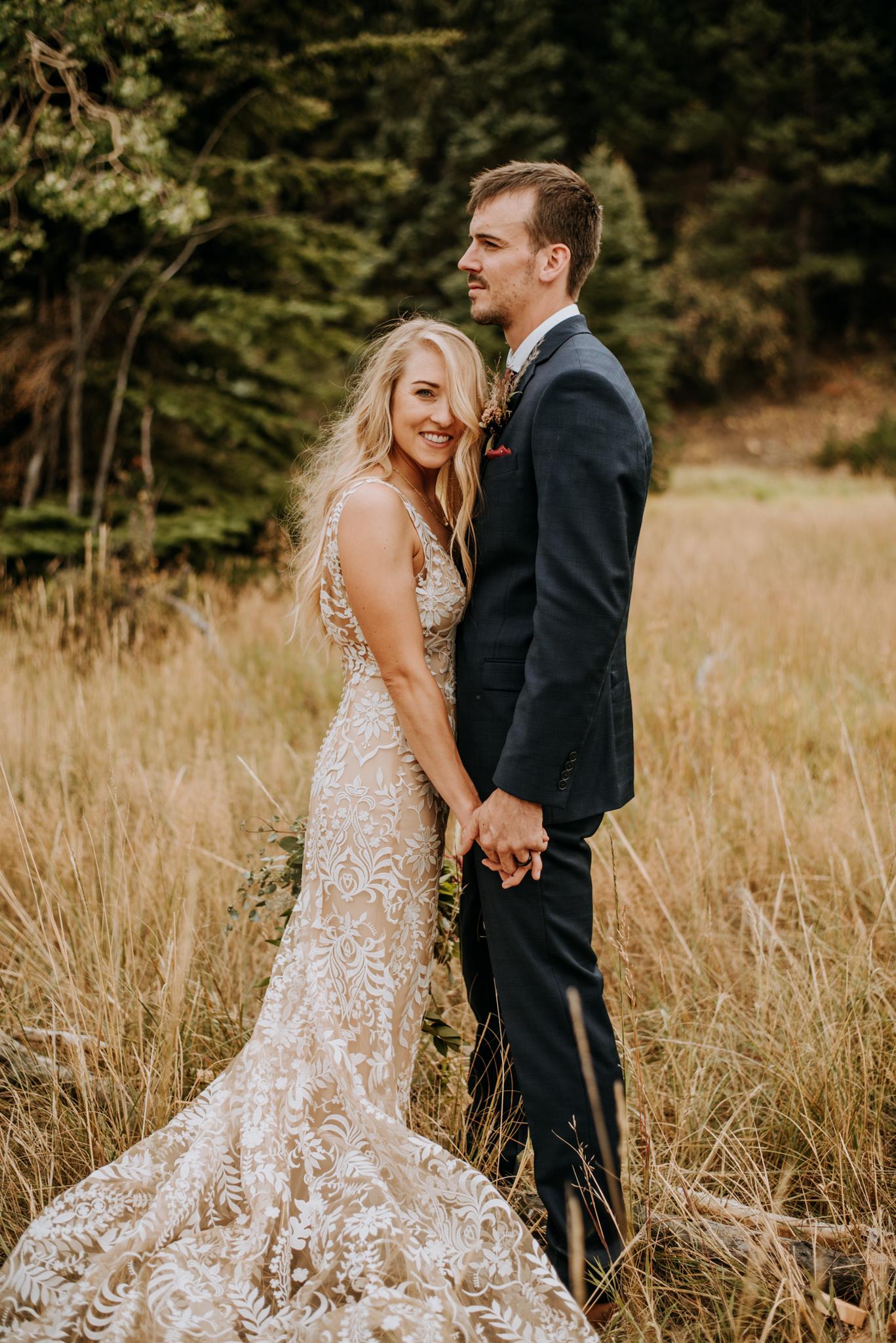 Rocky Mountain National Park wedding ceremony.