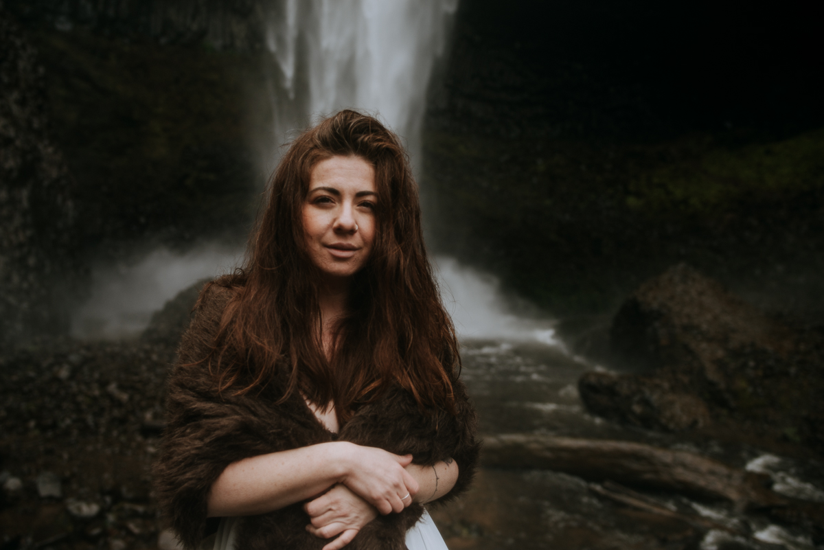 Portland's waterfalls made a wedding day into an adventure.