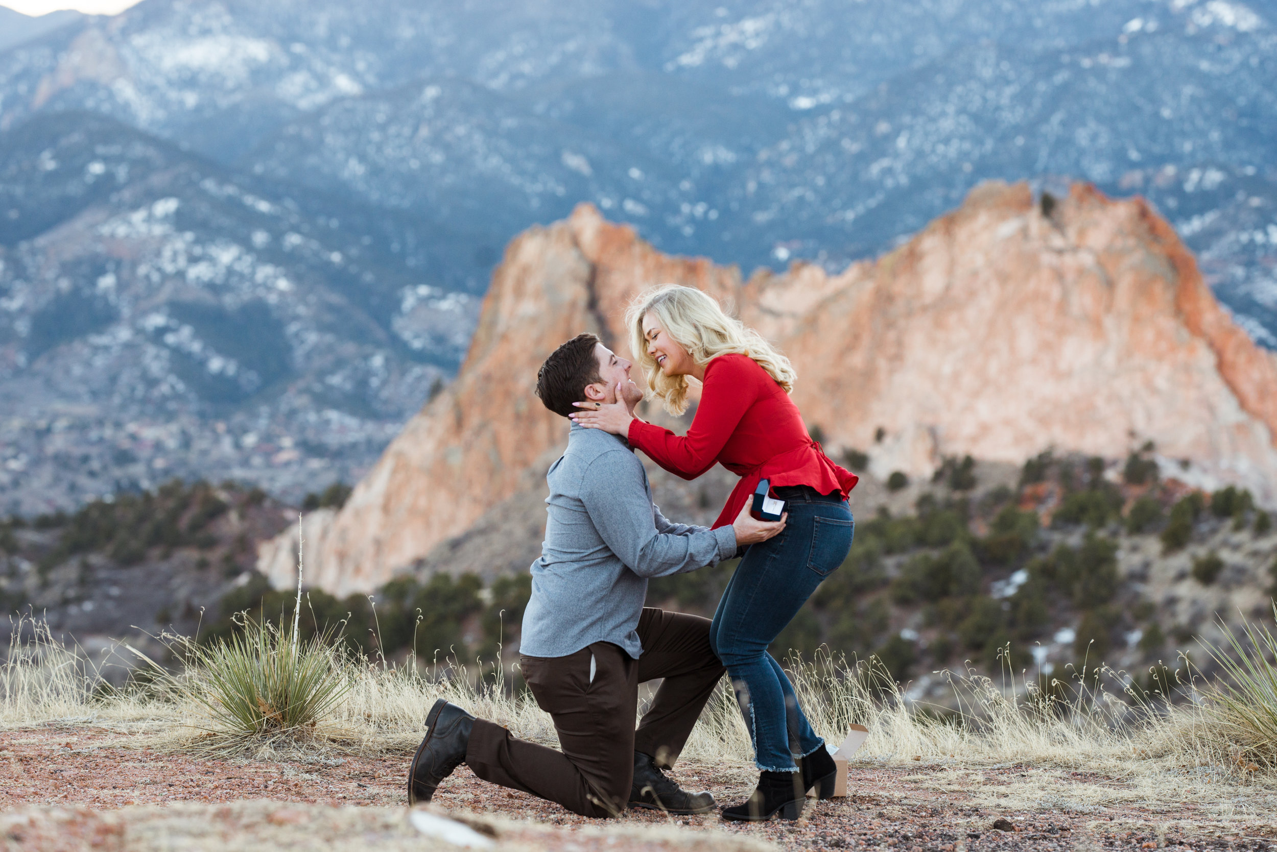 She says yes in this colorful Colorado surprise proposal!