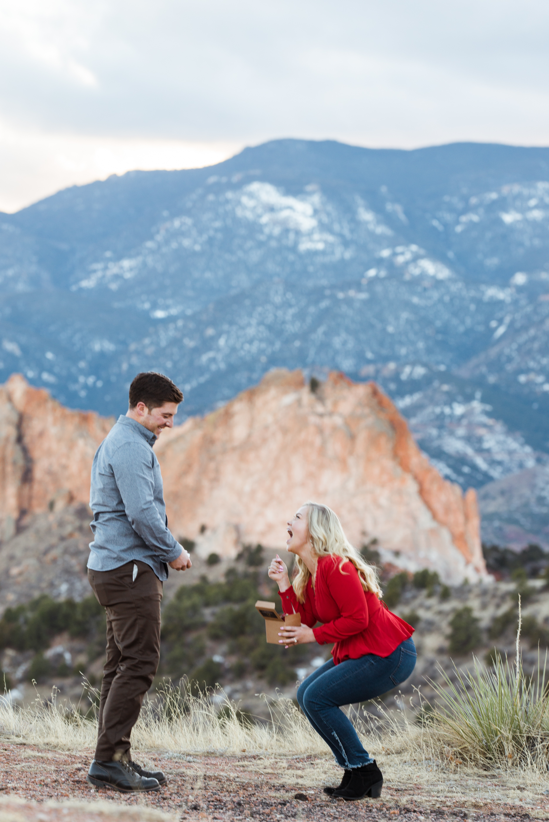 Check out this surprise Colorado Springs proposal photoshoot. She was so surprised!