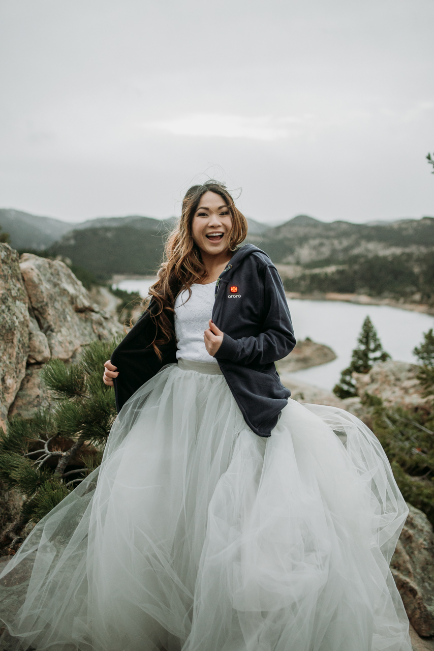 Our warm and happy bride!