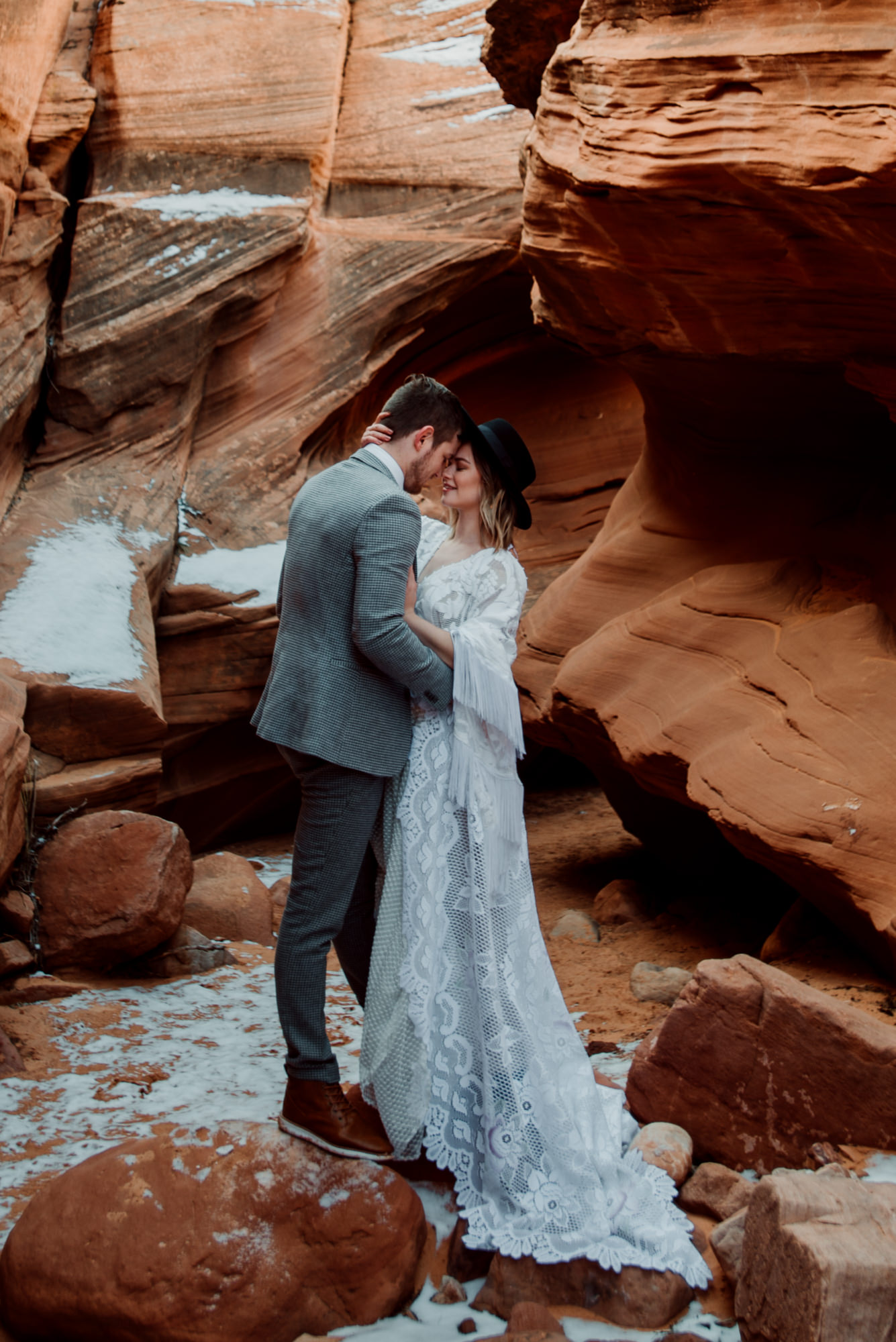 A gorgeous boho wedding dress:  WeAreReclamation  Check her out on Etsy!