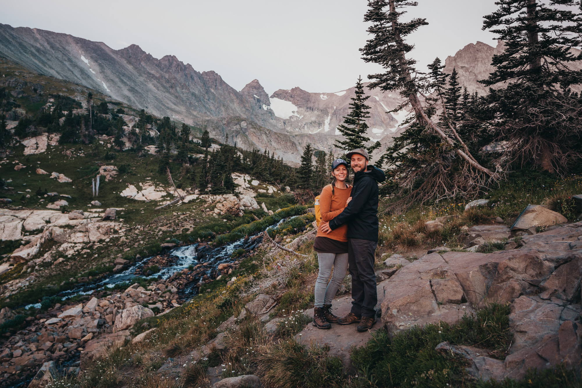 It's great when my husband and I get a photo of us out of the deal! Indian Peaks Wilderness is our favorite place to hike.