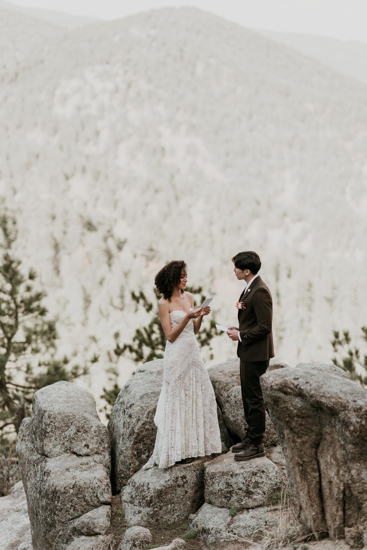 Bohemian mountain wedding elopement, rue de seine.