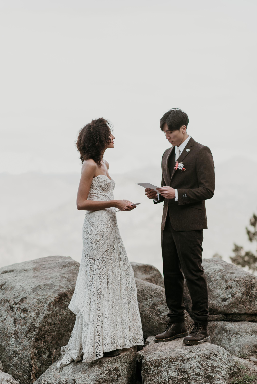 Simple wedding in Colorado