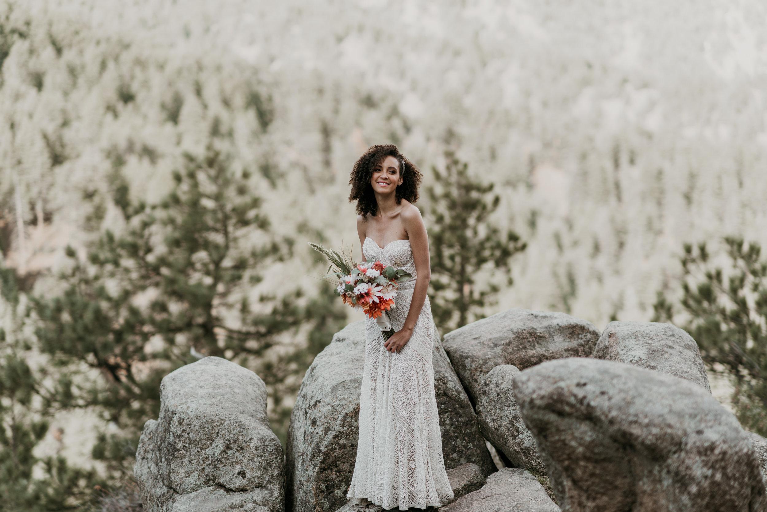 The quintessential Coloradan bride.